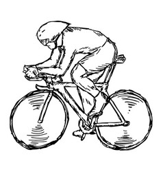 track cycling competition vector image