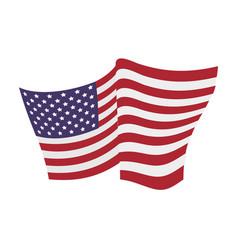 Usa flag emblem vector