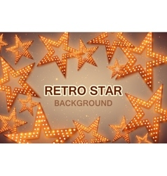 Retro stars abstract background for your design vector