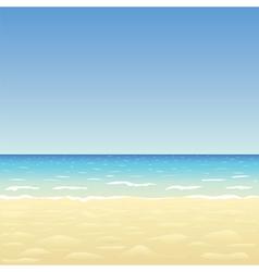 Ocean sand beach vector