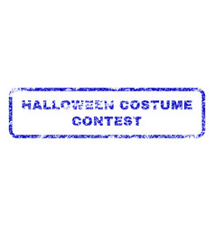 halloween costume contest rubber stamp vector image