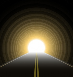 Car tunnel vector