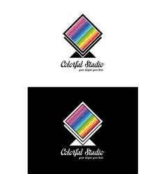 Colorful creative logo template vector image