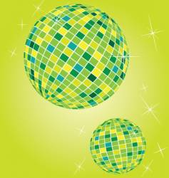 Shiny disco balls vector
