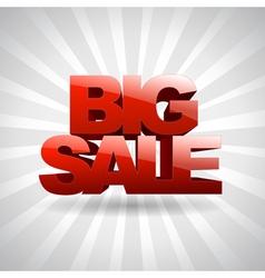 3D text Big sale vector image