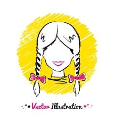 Female avatar vector image