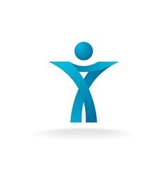 Man stylized logo vector image