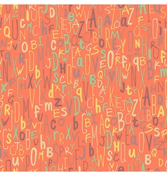 Alphabet seamless pattern vector