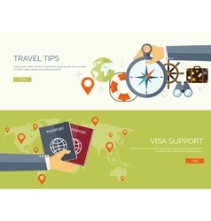 Flat travel background vector
