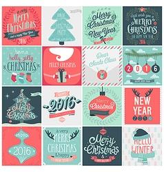 Christmas emblems vector