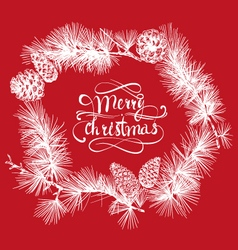 Merry Christmas beautiful letters banner design vector image