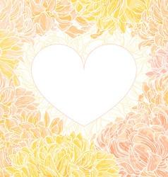 romantic heart-frame vector image