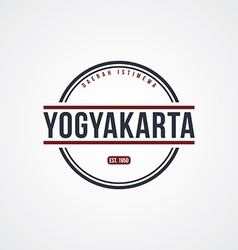 Yogyakarta badge indonesia label theme vector