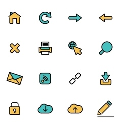 Trendy flat line icon pack for designers and vector