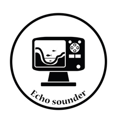 Icon of echo sounder vector