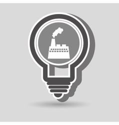 Environment and factory isolated icon design vector