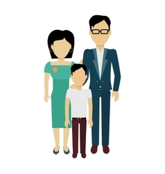 Happy family concept banner design vector