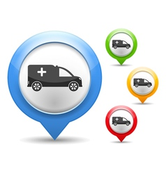 Ambulance Icon vector image vector image