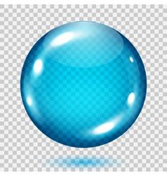 Big transparent light blue sphere vector
