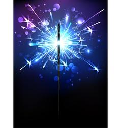 Blue sparkler vector
