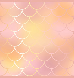 blush pink and orange fish skin background vector image vector image