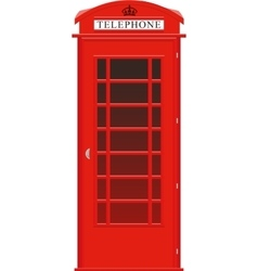 British phone booth vector
