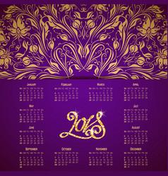 Calendar for 2018 vector