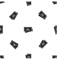 Circus show tickets pattern seamless black vector