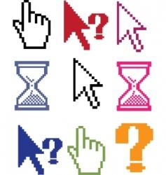 cursor color signs vector image vector image