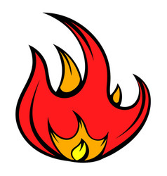 fire icon icon cartoon vector image