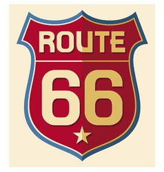 Historic Route US 66 Sign vector image vector image