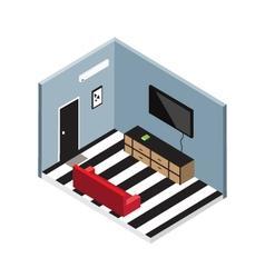 Isometric living room vector