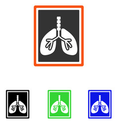 Lungs x-ray photo flat icon vector