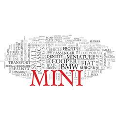 Mini word cloud concept vector
