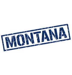 Montana blue square stamp vector