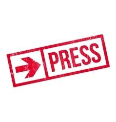 Press stamp rubber grunge vector