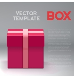 Realistic 3d present box birthday vector