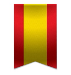 Ribbon banner - spanish flag vector image vector image