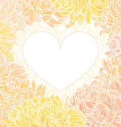 romantic heart-frame vector image