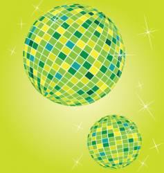shiny disco balls vector image