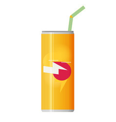 Soda can flat vector