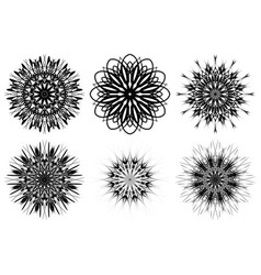 Spirograph shapes web design elements isolated vector