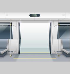 Subway car doors vector