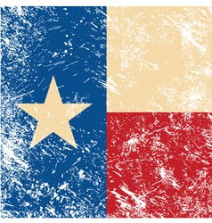 Texas retro flag vector image vector image