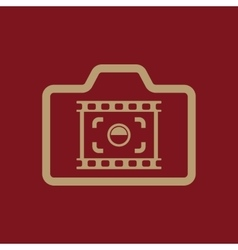 The camera icon photo and photographer film vector