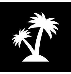The palm icon island symbol flat vector
