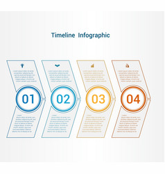 Timeline or area chart template infographics 4 vector