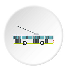 Trolley bus icon circle vector