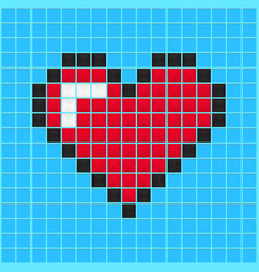 video game heart vector image vector image