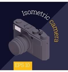 camera isometric vector image